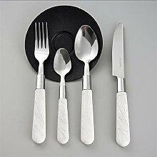 XINCH-Geschirr Edelstahl Steakbesteck 4-teiliges