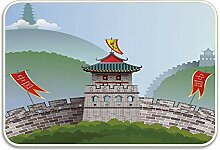 xinfub 14977 Mond über See und Hügel im Innen-