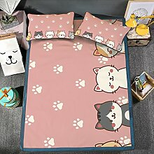 XING GUANG Cartoon Printing Ice Silk Mat