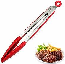 Xing Lin Küche Liefert Edelstahl Multifunktionalen Steak Clip Silica Gel Essen Clip Küchen, Steak Gedämpftem Brot, Brot Clips Und Gegrilltes Fleisch Clips, 11 Zoll Ro