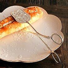 Xing Lin Küche Liefert Edelstahl Multifunktionalen Steak Clip Essen Clips, Clips, Kuchen Backen Grillen Clips Und Retro Silber Square Cake Clip