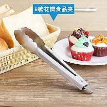 Xing Lin Lebensmittelzange Clip Aus Rostfreiem Stahl, Steak, Steak, Brot, Grill Und Braten Essen Clips Clip, B