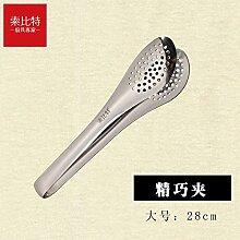 Xing Lin Lebensmittelzange Essen Clip Aus Rostfreiem Stahl Essen Brot Clip Clip Grill Grill Grill Brot Kochgeschirr Backen, 28 Cm)
