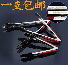 Xing Lin Zange für Spaghetti Grillen Grill Grill Grill und verlängerter Griff aus Edelstahl Fry mit Clip aus Edelstahl addensato Big Length About 29.0cm Single