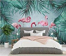 Xinghe wave Design Tapete 3D Tropical Flamingo