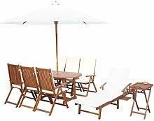 XINGLIEU Esszimmer Holz Akazie Garten-Set mit