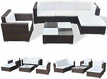 Xinglieu Gartenmöbel-Set 17-teilig aus