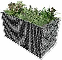 XINGLIEU Gartenwerkzeuge Gabionen-Übertopf Stahl