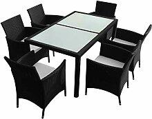 Xinglieu Set Gartentisch und Stühle, 13 Stück,