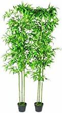 XINGLIEU Zimmerpflanzen 2er Set Bambus 190 cm