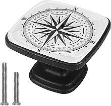 Xingruyun Kleiderschränke Knäufe Kompass Kommode