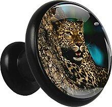 Xingruyun Kleiderschränke Knäufe Leopard Kommode