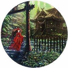Xingruyun Kostüm Mädchen Runder Teppich weich