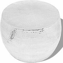 Xingshuoonline Couchtisch, rund, aus Aluminium, 53