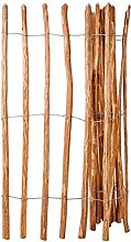 Xingshuoonline Holz-Lattenzaun Haselnussholz als