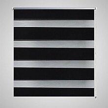 Xingshuoonline Jalousie 70 x 120 cm schwarz Rollos