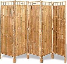 Xingshuoonline Raumteiler, 5 Paneele, Bambus, 200