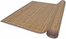 Xingshuoonline Rechteckig Brauner Bambusteppich