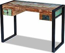 Xingshuoonline Schreibtisch aus Massivholz Antik