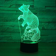 XINGXIAOYU Fox 7 Farbe Lampe 3D Visuelle Tier