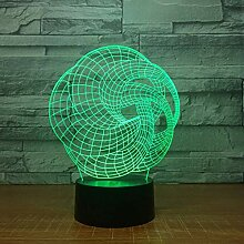 XINGXIAOYU Kunst Abstraktion 3D Lampe 7 Farbe Led