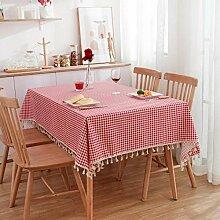 XINGXIAOYU Party Tischdecken,Rote Tischdecke Aus