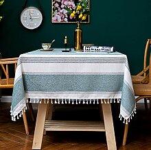 XINGXIAOYU Tischdecke Fliesen Streifen Fransen