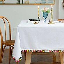 XINGXIAOYU Tischdecke zum Sticken, reine Farbe,