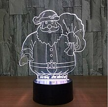 XINGXIAOYU Weihnachtsmann 3D Illusion Led Tier