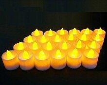 XINING 24LED Kerzen Kerzen Ohne Duft Flammenlose