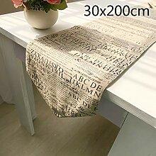 Xinjiener Baumwolle Tischläufer Englisch Alphabet