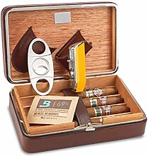 XINKEGF Humidore Leder Travel Cigar Humidor Case