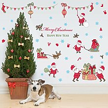XinLuLin Weihnachten Wandaufkleber Wohnzimmer