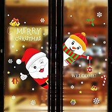 XinLuLin Weihnachtsmann Wandaufkleber Wohnzimmer