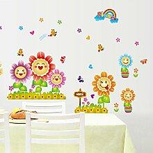 XinLuLin Zaun Smiley Sonnenblume Aufkleber