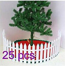 XinqinDing 25 pcs Weiß Zaun Weihnachten