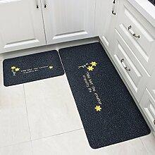 XINQING matte matte hall küche teppich matte matte öl absorbierende sanitär - bad zu hause 50 x 80 cm,zwei stücke von kleidung: schwarze