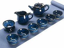 XinQuan Wang 10-teiliges Tee-Set (Farbe: Jun LAN)