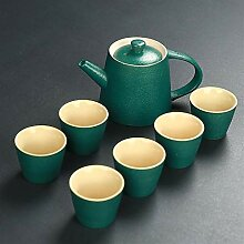 XinQuan Wang Crude Tao Gongfu Tee-Set aus Keramik