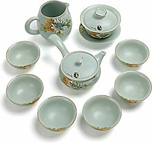 XinQuan Wang Keramik-Kung-Fu-Tee-Set mit
