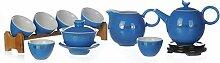 XinQuan Wang Tee-Set aus glasierter Keramik, Kung