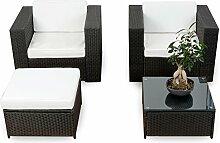 XINRO® erweiterbares 10tlg. Balkon Garten Lounge