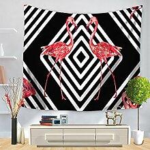 XINSU Home Tapestry Tropische Pflanze Flamingo