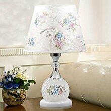 XINYE Einfach Glas Tischleuchte Schlafzimmer Dekoration Nachttischlampe mit PVC Malerei Lampenschirm , C