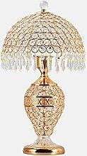 XINYE LED Kristall Tischleuchte Schlafzimmer Dekoration Nachttischlampe mit Doppelt Schalter Steuern , Golden