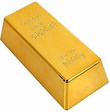 xinzhi Gold Brick Bullion Türstopper Creative