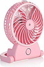 Xitai Fan Luftbefeuchter Mini Spiegel Fan Luftbefeuchter Usb Aufladen Office Desktop, Pink