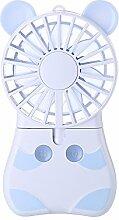 Xitai Minihandventilator Tragbare Hand Ventilator Schlafsaal Büro Stille Carry-On Griff Wiederaufladbare, Blau