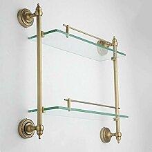 XITER Badezimmerregal Kupfer + Glas Material 2