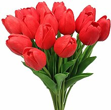 XiUER 20 künstliche Mini-Tulpen, echte Haptik,